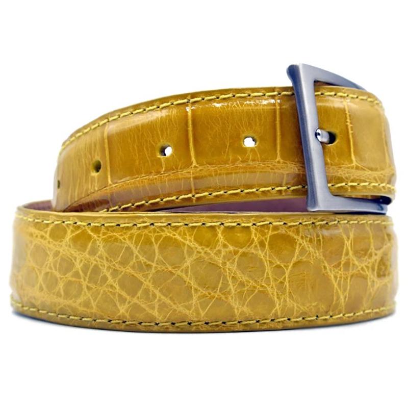 Zelli Alligator Belt Yellow Image