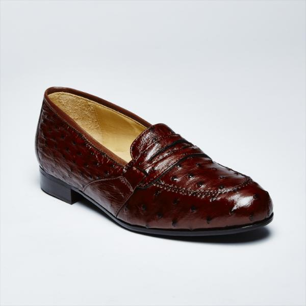 Zelli Angelo Genuine Ostrich Loafers Brown Image