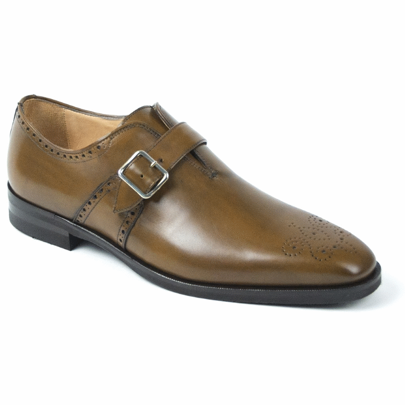 Zelli Antonio Monk Strap Shoes Cognac Image