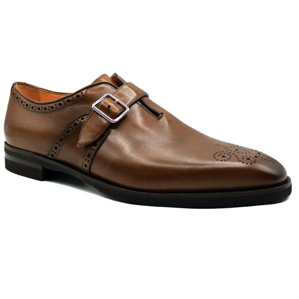 Zelli Antonio Monk Strap Shoes Cognac Image