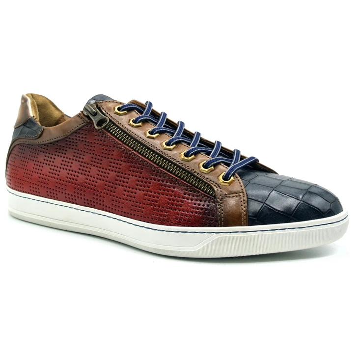 Zelli Brezza Perforated Sneakers Red Image