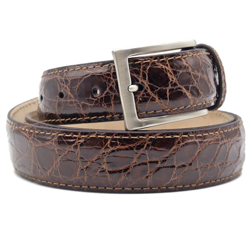 Zelli Caiman Crocodile Belt Cognac Image