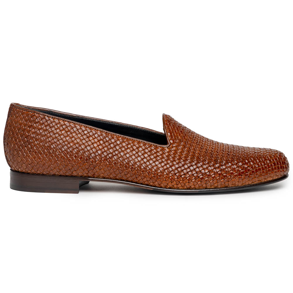Zelli Cestino Woven Loafers Cognac Image