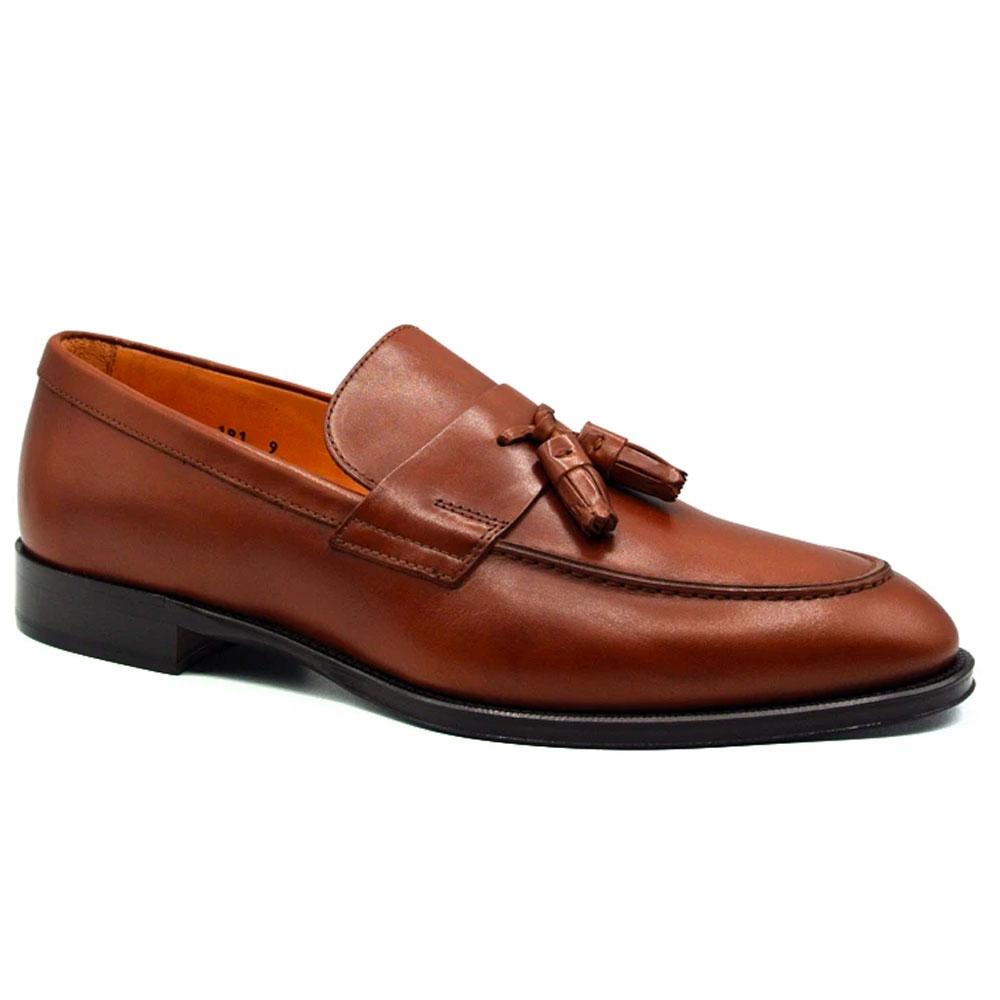 Zelli Como Calfskin Tassel Loafers Rust Image
