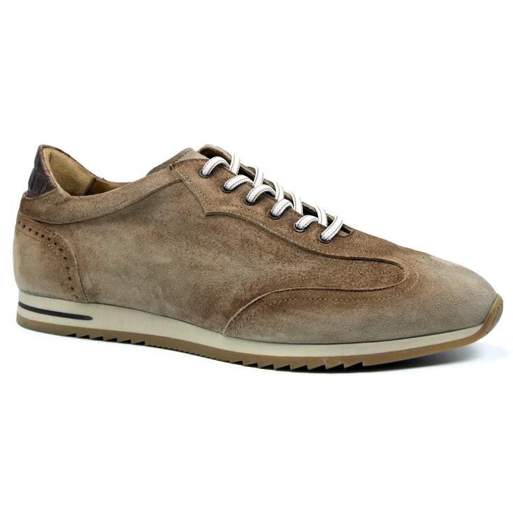 Zelli Costa Suede & Crocodile Sneakers Brown Image