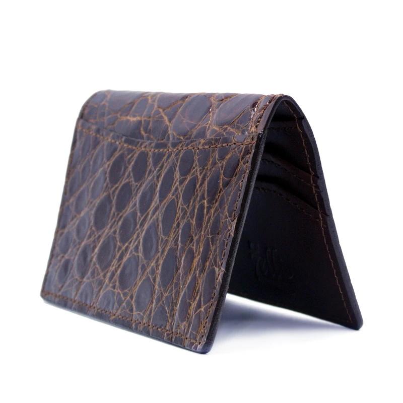 Zelli Crocodile Card Case Cognac Image