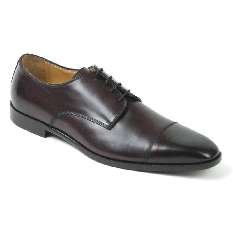 Zelli Enzo Cap Toe Shoes Black Cherry Image