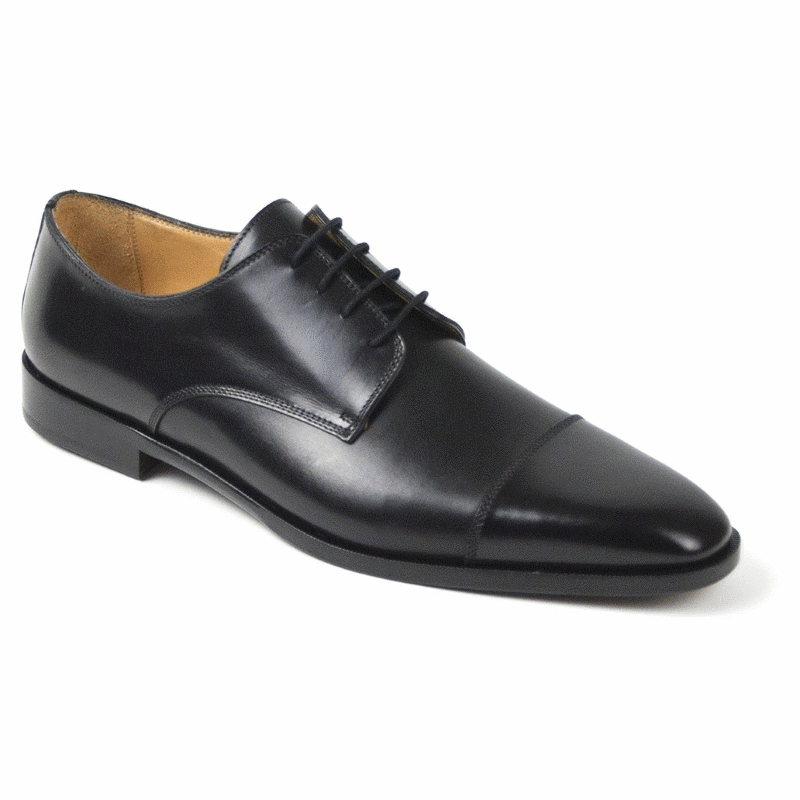 Zelli Enzo Cap Toe Shoes Black Image