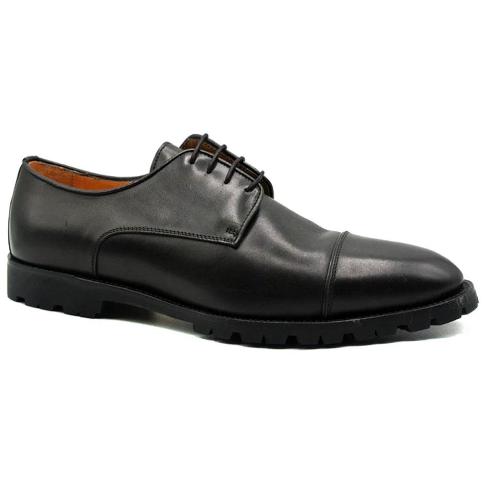Zelli James Cap Toe Shoes Black Image