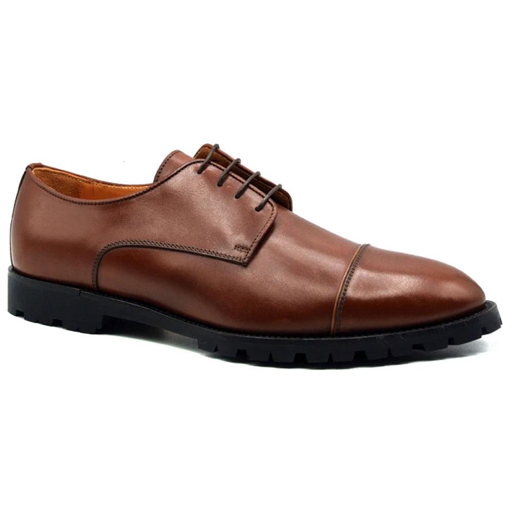 Zelli James Cap Toe Shoes Brown Image