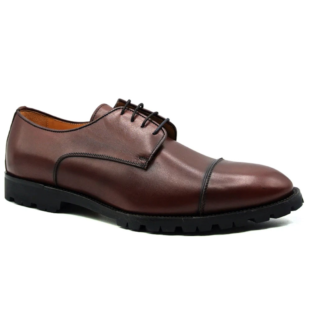 Zelli James Cap Toe Shoes Burgundy Image