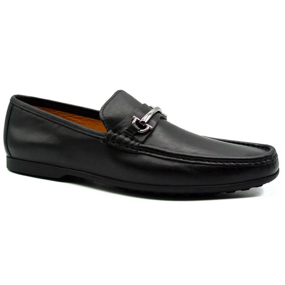 Zelli Leone Bit Driving Shoes Black Image