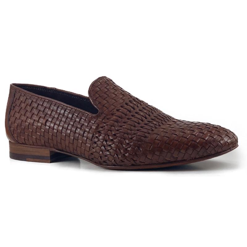Zelli Luce Woven Loafers Cognac Image