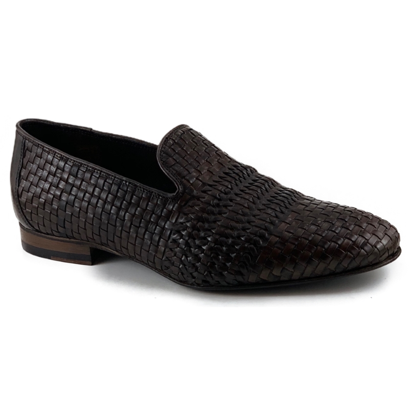 Zelli Luce Woven Loafers Dark Brown Image