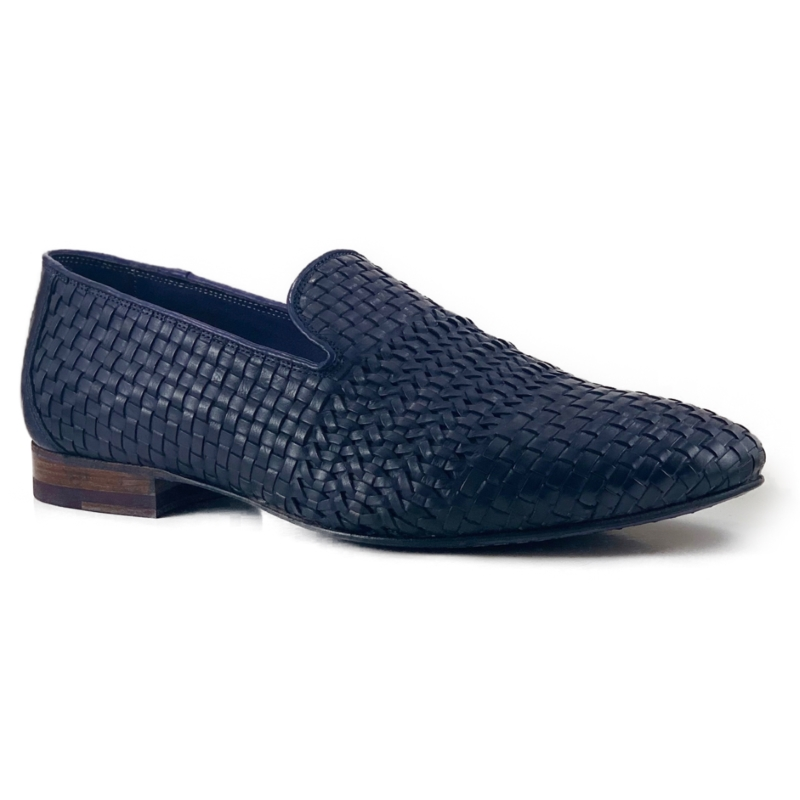 Zelli Luce Woven Loafers Denim Gray Image
