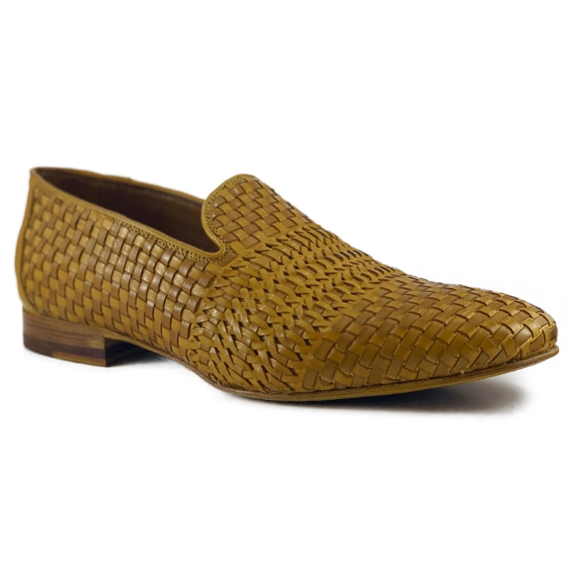 Zelli Luce Woven Loafers Mustard Image