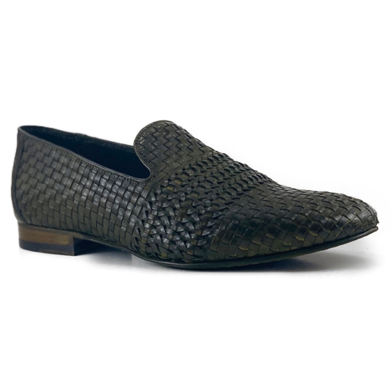Zelli Luca Woven Loafers Olive Image