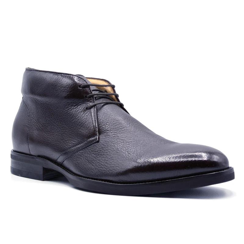 Zelli Marco Deerskin Chukka Boots Dark Brown Image
