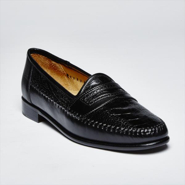 Zelli Milano Ostrich Leg / Nappa Slip-On Black Image