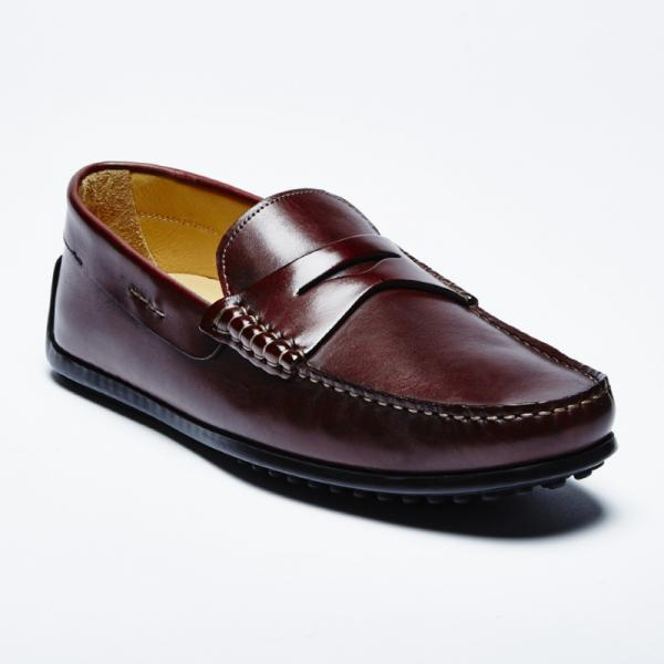 Zelli Monza Calfskin Driving Loafers Brown Image