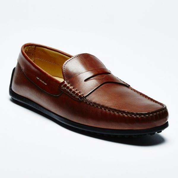 Zelli Monza Calfskin Driving Loafers Rust Image