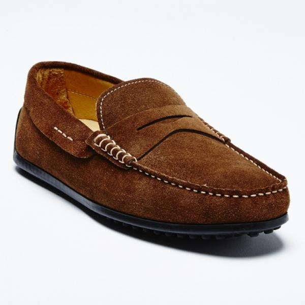 Zelli Monza Suede Driving Loafers Brown Image