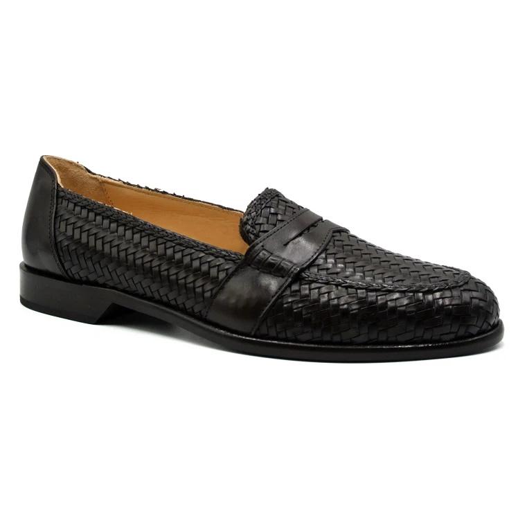 Zelli Nicola Woven Loafers Dark Brown Image