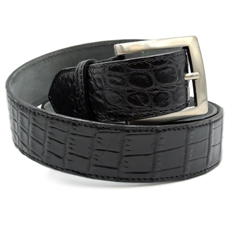 Zelli Nile Crocodile Belt Black Image