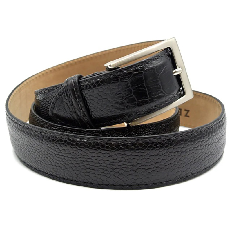 Zelli Ostrich Leg Belt Black Image