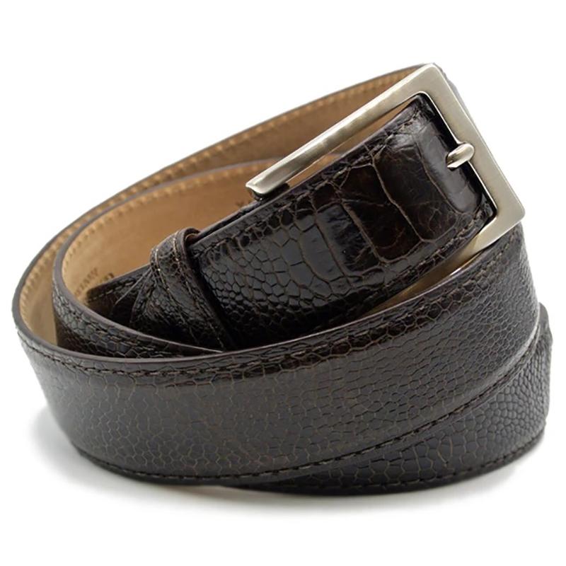 Zelli Ostrich Leg Belt Brown Image