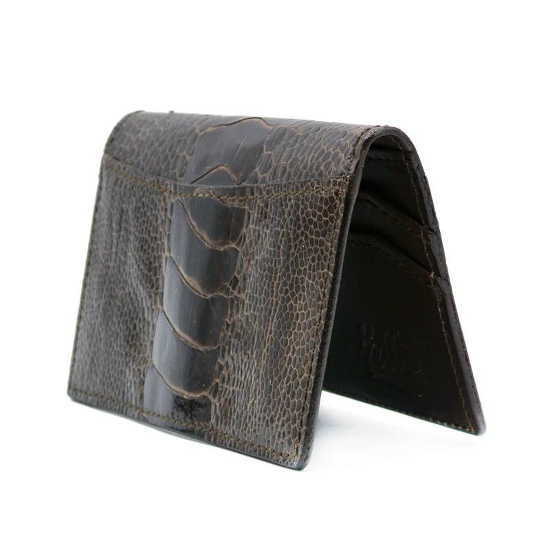 Zelli Ostrich Leg Card Case Brown Image