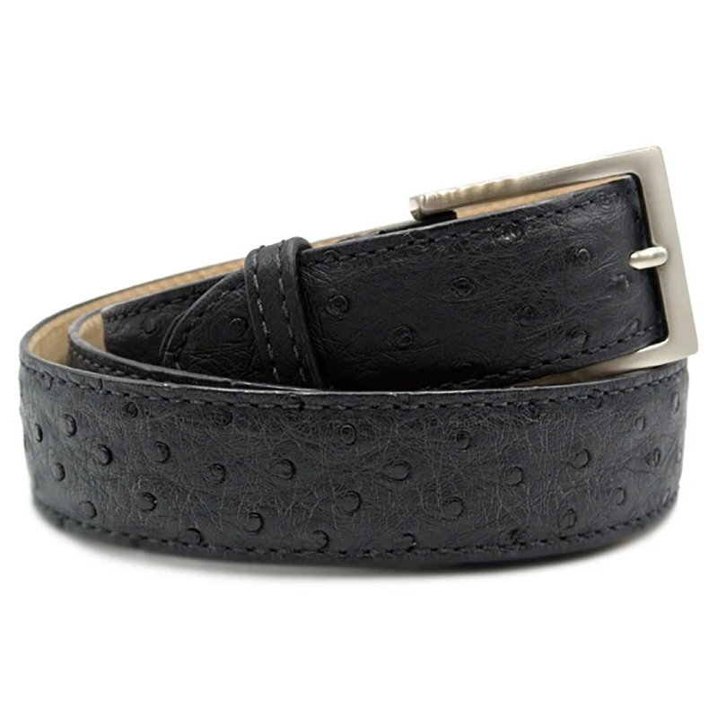Zelli Ostrich Quill Belt Black Image