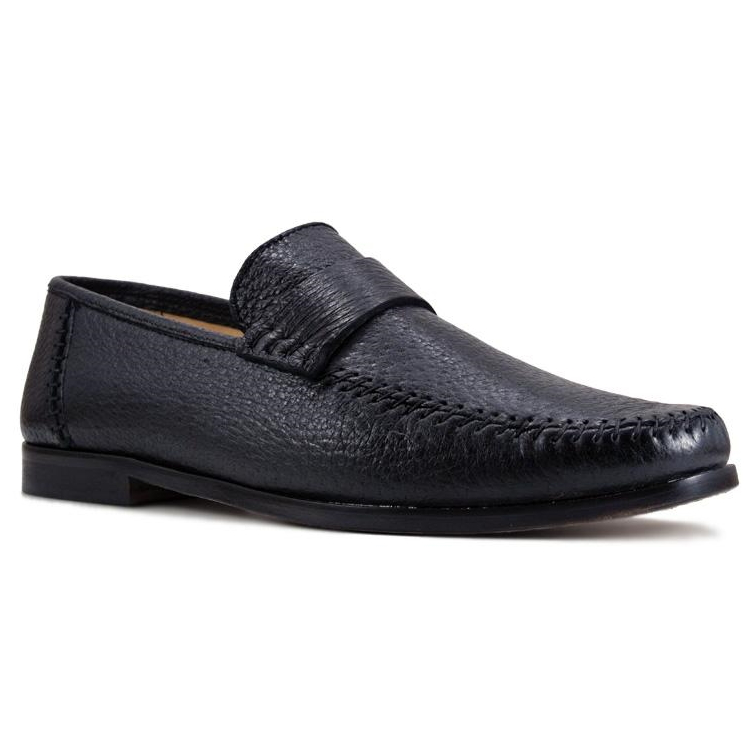 Zelli Parma Peccary Loafers Black Image