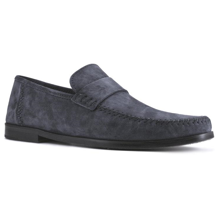 Zelli Parma Suede Loafers Navy Image