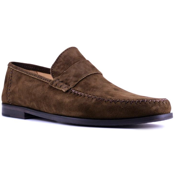 Zelli Parma Suede Loafers Tobacco Image