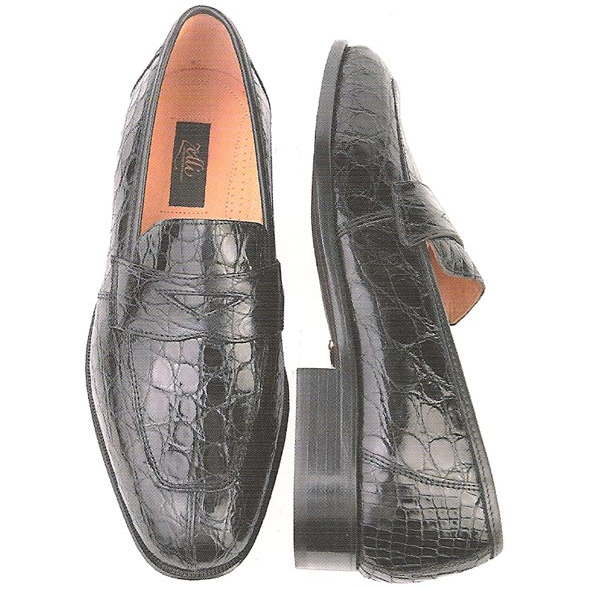Zelli Renaissance Genuine Crocodile Slip-On Black Image