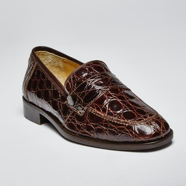 Zelli Renaissance Genuine Crocodile Slip-On Brown Image