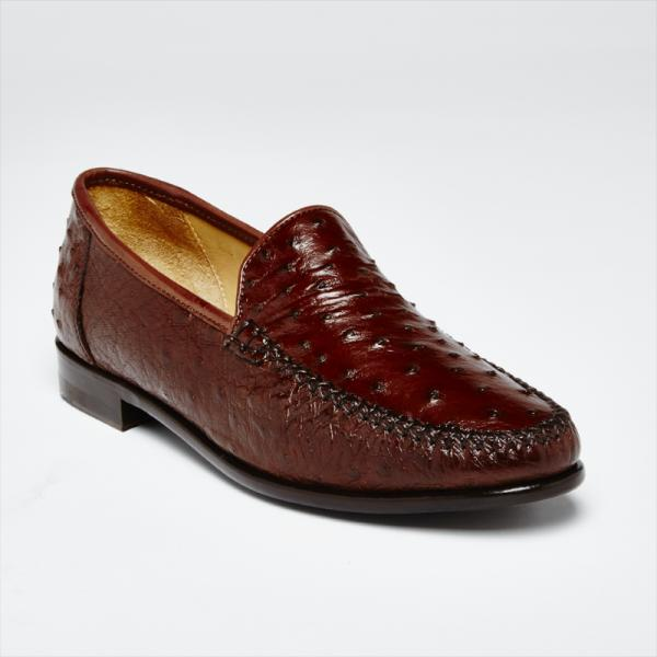 Zelli Struzzo Genuine Ostrich Quill Slip-On Brown Image