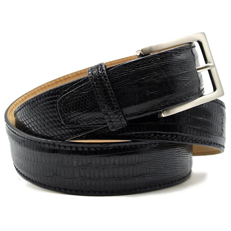 Zelli Teju Lizard Belt Black Image