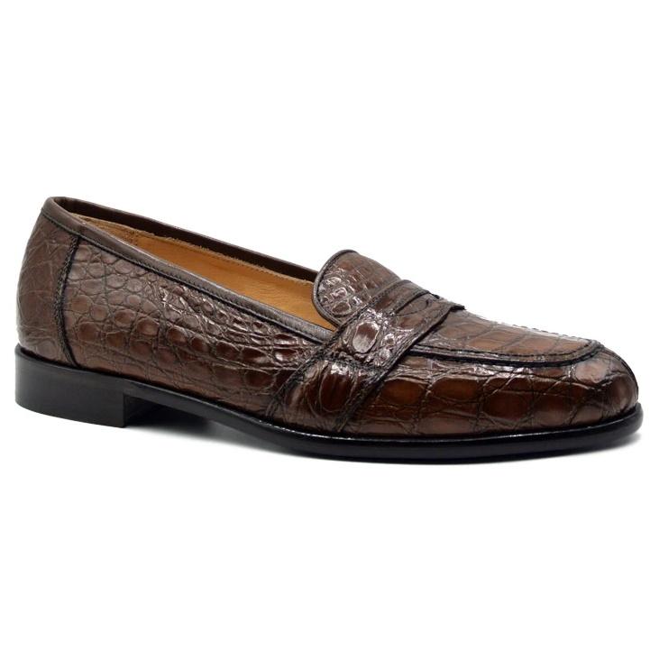 Zelli Tuscany Crocodile Slip-On Cognac Image