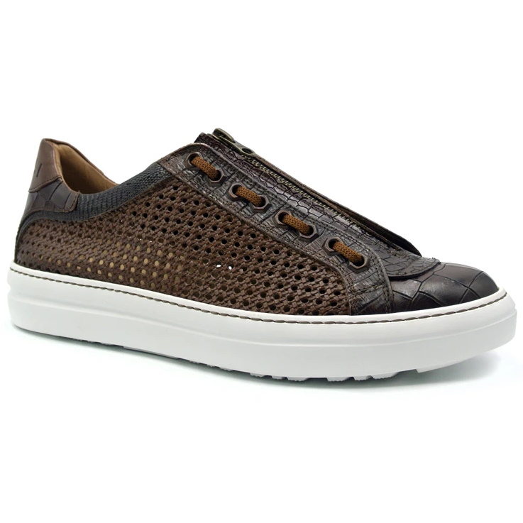 Zelli Vento 2 Woven Sneakers Brown Image