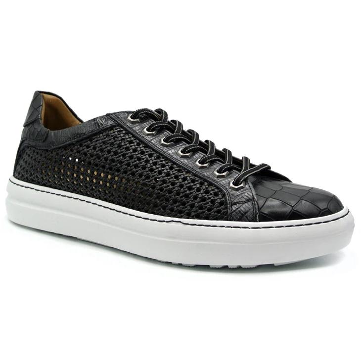 Zelli Vento Woven Sneakers Black Image