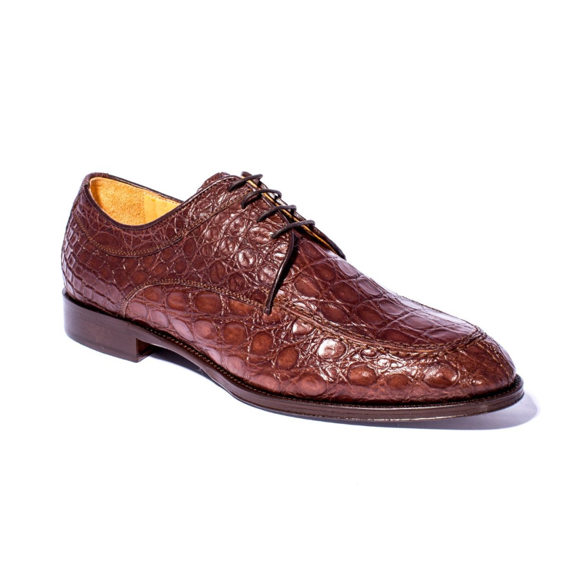 Zelli Verona Caiman Crocodile Dress Shoes Nicotine Image