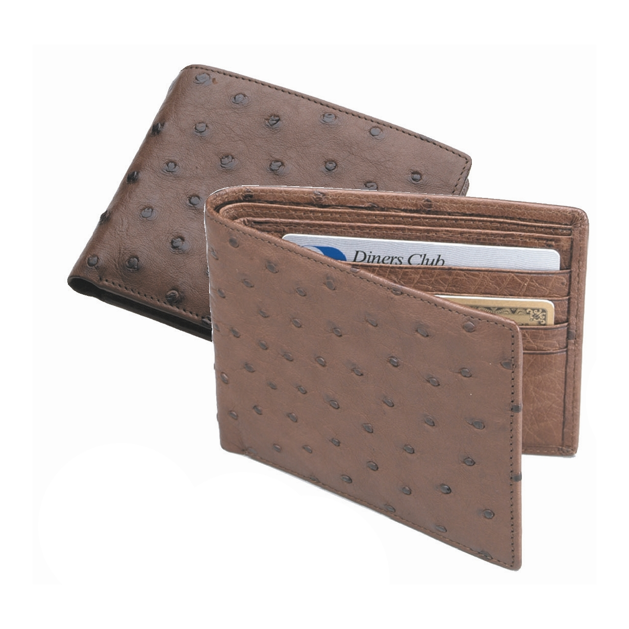 Ostrich Wallets For Sale Zelli Ostrich Bi-fold Wallet