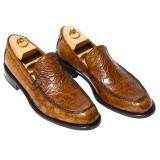 Calzoleria Toscana 5034 Alligator Loafers Chestnut Image