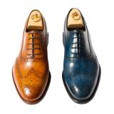 Calzoleria Toscana H742 Wingtip Brogues Chestnut or Blue Image