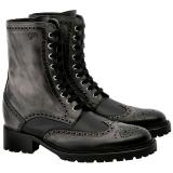 Guido Maggi Carnaby Aged Look Leather Boots Black Image