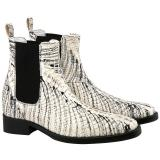 Guido Maggi Johannesburg Genuine Python Leather Boots White Image