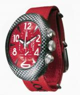 Locman Mens Nuovo Carbonia Watch Red 100RDCRBQ-2 Image