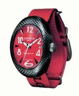 Locman Mens Nuovo Carbonia Watch Red 100RDCRBQ Image